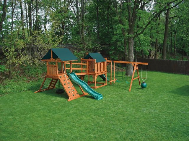 deluxe combination swing set, hurricane & contemporary - Coram, Long Island, Medford, The Hamptons NY - Wood Kingdom East
