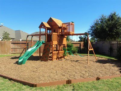 wood mulch safety surfacing for playgrounds - Wood Kingdom East