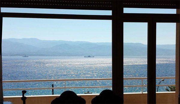 panorame di una finestra dell' alloggio per anziani GIOVANNI PAOLO II a Messina