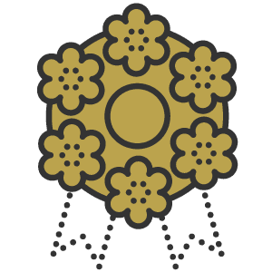 Icona corona fi fiori per funerali
