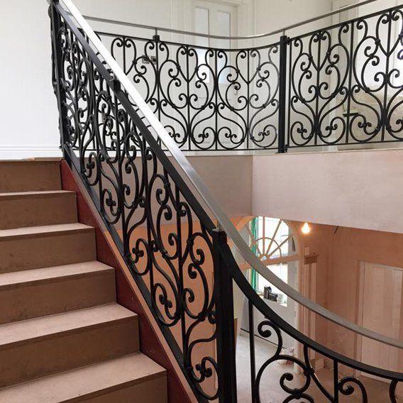 Wrought iron balustrades