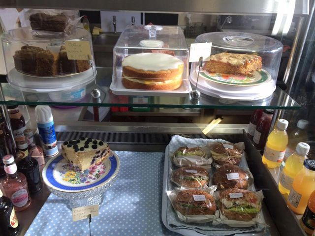 Delicious cakes in our coffee shop in Lincolnshire