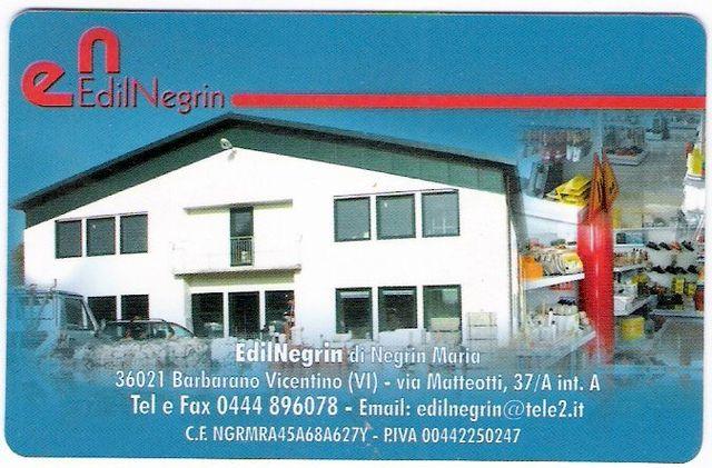 Biglietto da visita Edil Negrin