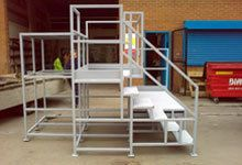 Raised platform fabrication