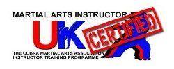 UK Martial Arts Instructor certified logo