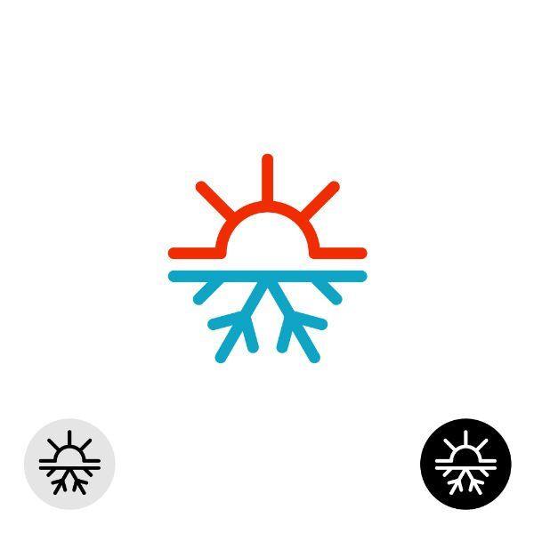 Icona - freddo  e caldo