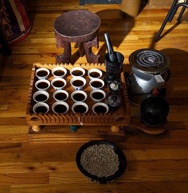 Ethiopian coffee ritual