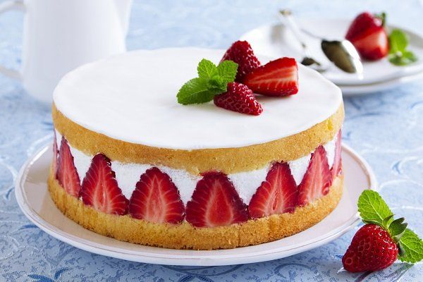 torta cheesecake con fragole