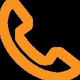 icona telefono arancione