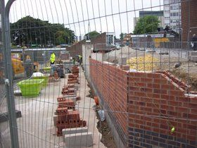 concreting - dunnington, north yorkshire - ljw construction ltd - retaining wall