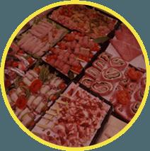 Banchi di macelleria e gastronomia
