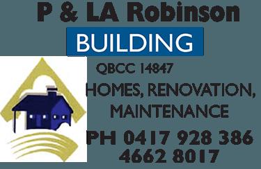 P and LA Robinson Builders Logo