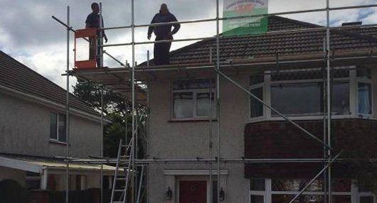 erecting scaffolding