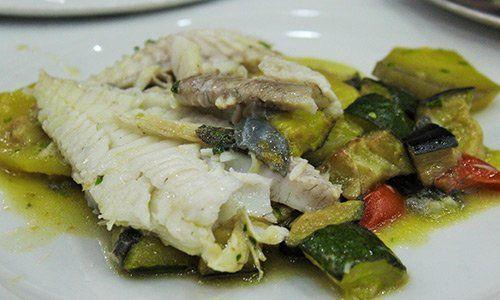 Piatto a base di pesce del Riccio Pizza e Restaurant a Santa Maria a Vico (CE)