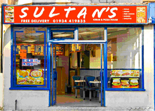 Kebab - Weston-Super-Mare - Sultan's Kebab House - shop front