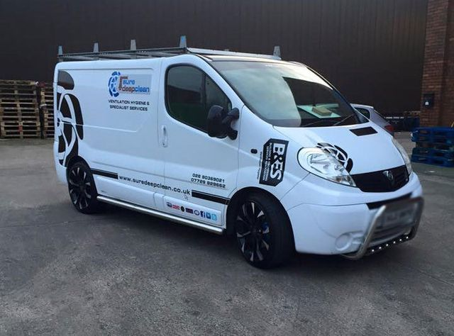 white coloured van
