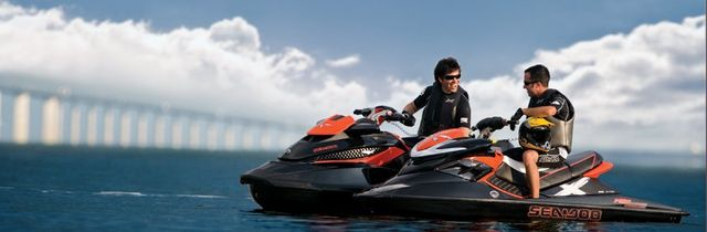 Individual riding a watercraft