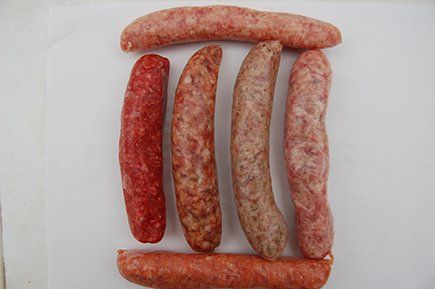 Lamb and mint sausages