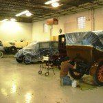 1917 Winton Six Touring Car being polished