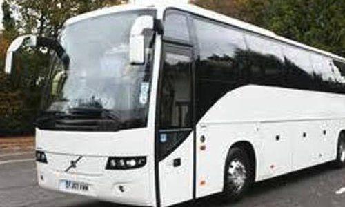 A large white coach
