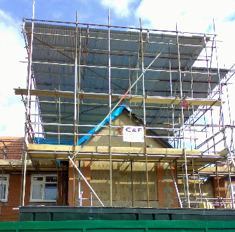completing scaffolding work
