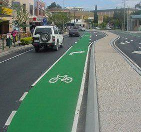 Road marking of bicycle lane