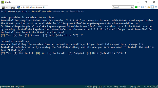 PowerShell - Microsoft Azure
