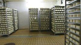 magazzino con scaffali