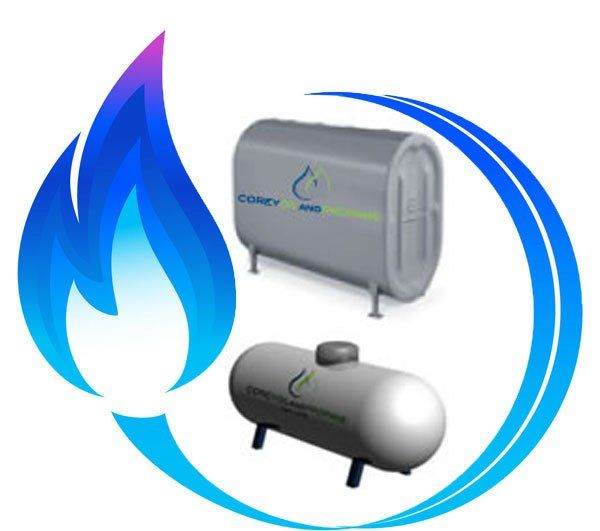 Propane Tanks and Heating Oil tanks from Corey Oil and Propane.