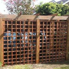 pergola with trellis screening