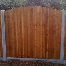 convex feather edge panel fencing