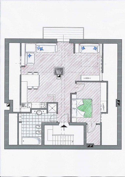 cartina dell'appartamento CArola