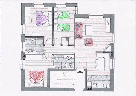 cartina dell'appartamento Luisa