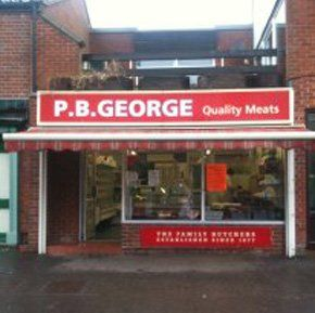 outside of P B George Butchers