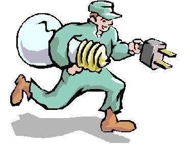 Caricatura di un elettricista