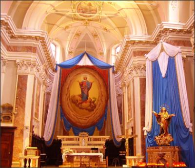 addobbi in stoffa per chiese