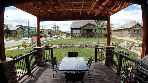 View of the custom designed deck in Denver, CO
