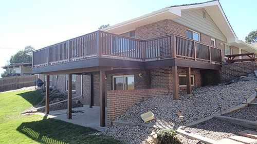 View of custom deck constructed by experts in Denver, CO