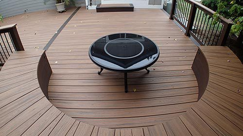 Deck with seating in Denver, CO