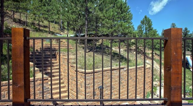 Rough sawn cedar with railing in Denver, CO