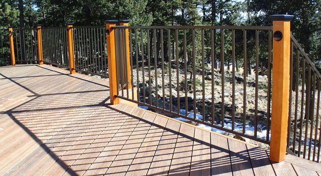 Smooth sawn cedar with railing in Denver, CO