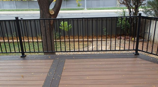 View of the steel panel railing system installed in Denver, CO
