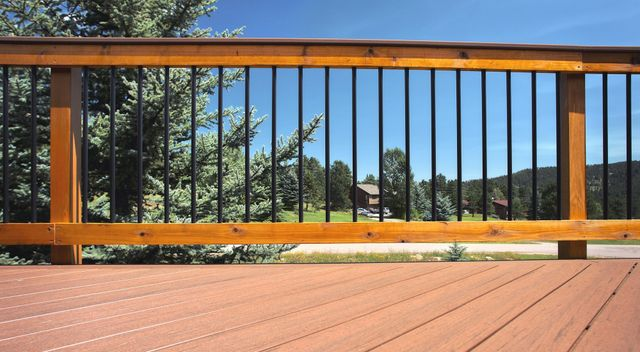 powder coated aluminum balusters installed in Denver, CO