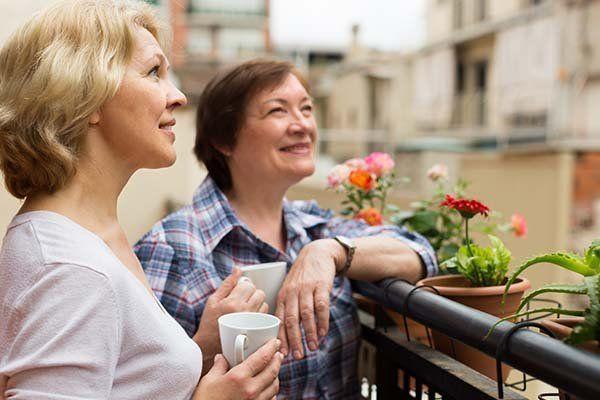 women enjoying their coffee