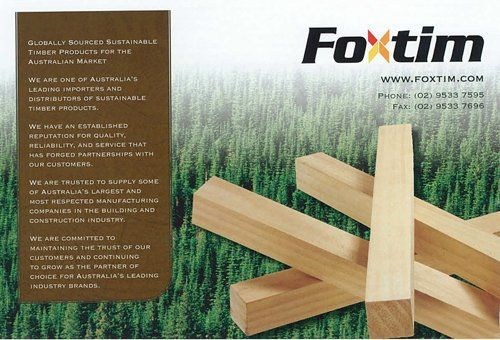 View of a Foxtim advertisement