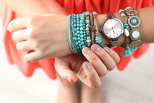 Woman with various types of bracelets in Kamloops