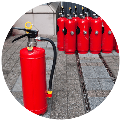stock of fire extinguishers
