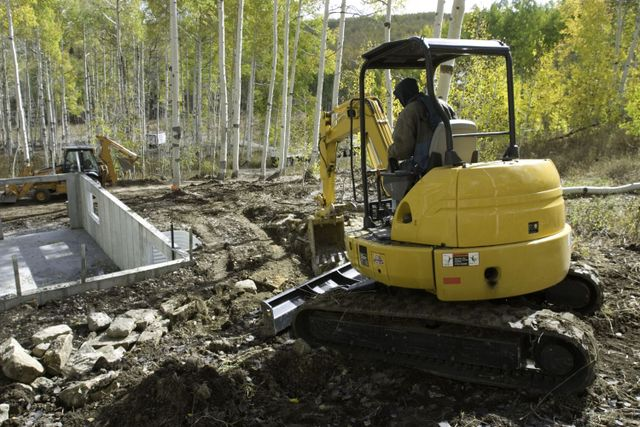 Example of land clearing services in Eastsound, WA