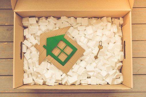 house and key inside box