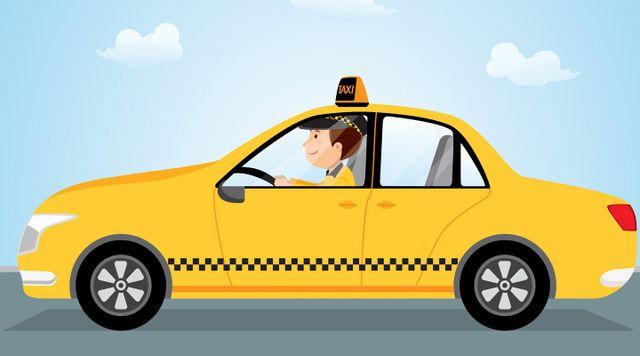 disegno di un taxi giallo